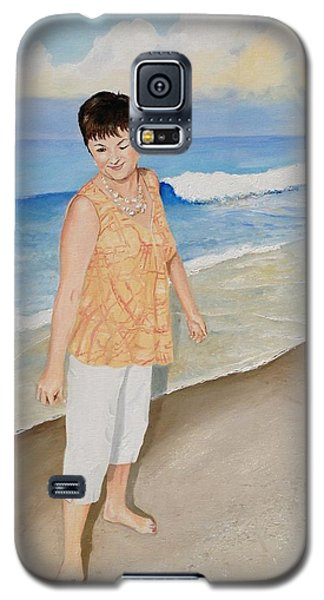 Galaxy S5 Case featuring the painting Winking At The Sun by Alan Lakin