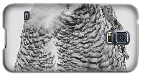 Winking Snowy Owl Black And White Galaxy S5 Case