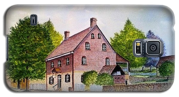 Galaxy S5 Case featuring the painting Winkler Bakery Old Salem Winston Salem Nc by Richard Benson