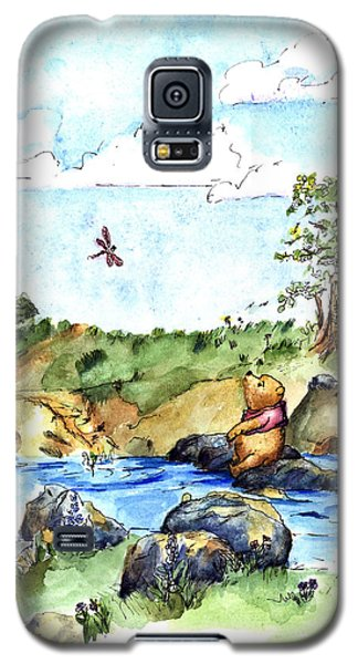 The Sky Galaxy S5 Case - Imagining The Hunny  After E  H Shepard by Maria Hunt
