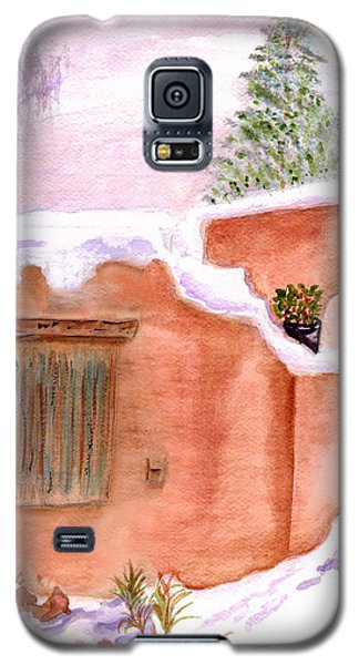 Galaxy S5 Case featuring the painting Winter Adobe by Paula Ayers
