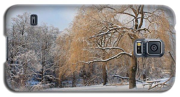 Winter Along The River Galaxy S5 Case by Nina Silver