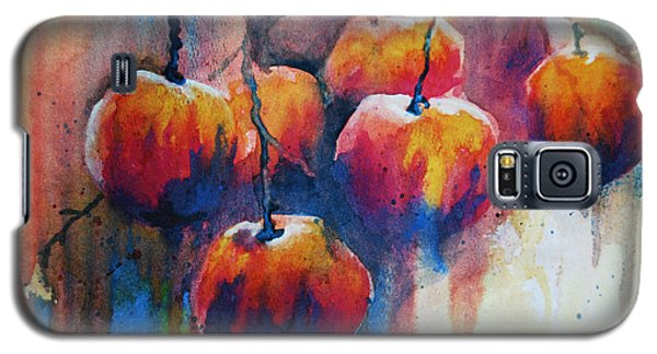 Galaxy S5 Case featuring the painting Winter Apples by Jani Freimann