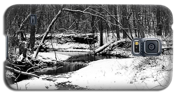 Galaxy S5 Case featuring the photograph Winter At Pedelo Black And White by Deena Stoddard