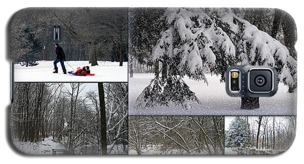 Galaxy S5 Case featuring the photograph Winter At Petrifying Springs Park by Kay Novy