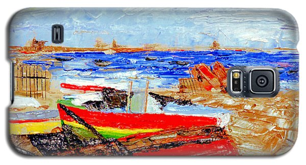 Galaxy S5 Case featuring the painting Winter At Provincetown by Michael Daniels