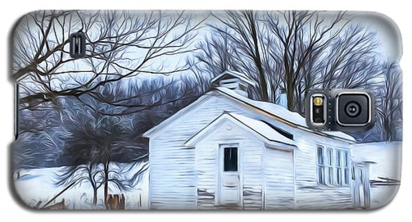Winter At The Amish Schoolhouse Galaxy S5 Case