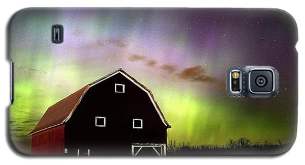 Galaxy S5 Case featuring the photograph Winter Aurora by Timothy McIntyre