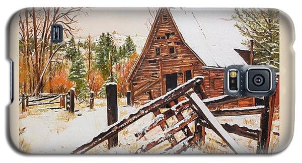 Winter - Barn - Snow In Nevada Galaxy S5 Case by Jan Dappen