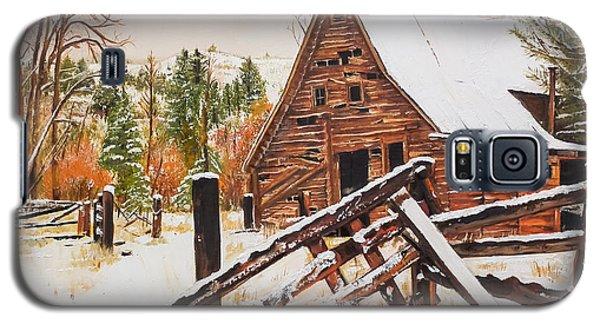 Winter - Barn - Snow In Nevada Galaxy S5 Case