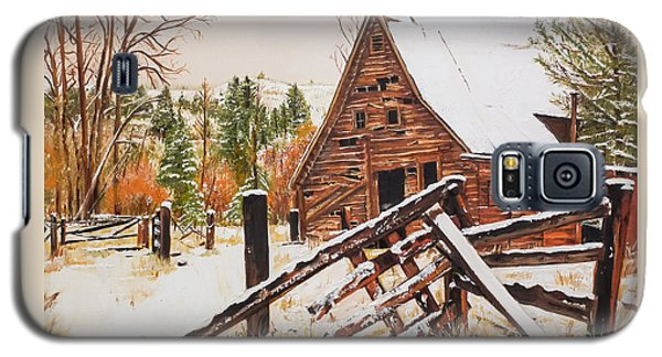 Winter - Barn - Snow In Nevada Galaxy S5 Case