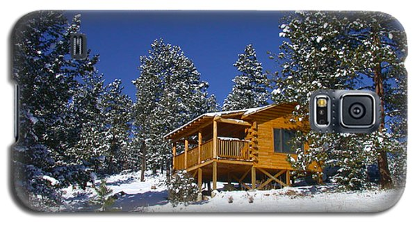 Winter Cabin Galaxy S5 Case