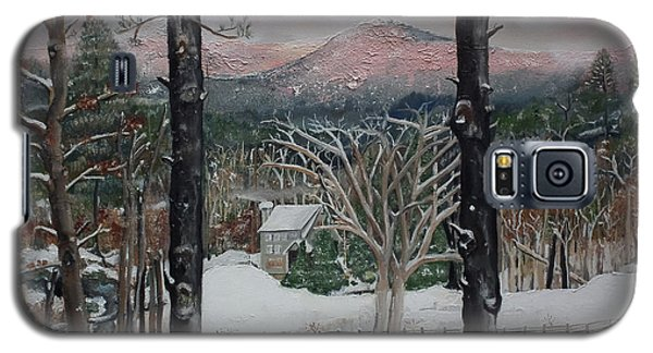Winter - Cabin - Pink Knob Galaxy S5 Case