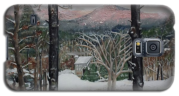 Winter - Cabin - Pink Knob Galaxy S5 Case