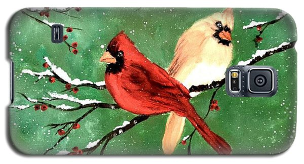 Winter Cardinals Galaxy S5 Case