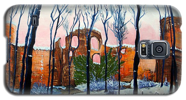 Galaxy S5 Case featuring the painting Winter Castle by Daniel Janda