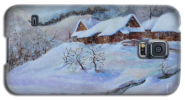 Galaxy S5 Case featuring the painting Winter Charm by Marta Styk
