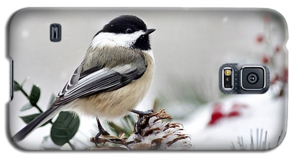 Galaxy S5 Case featuring the photograph Winter Chickadee by Christina Rollo