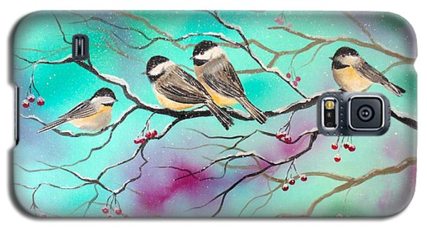 Winter Chickadees Galaxy S5 Case