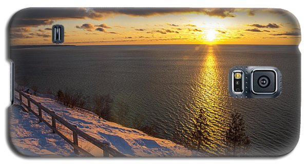 Winter Cliffs On Lake Michigan Galaxy S5 Case