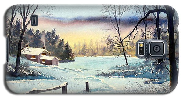 Winter Cottage Galaxy S5 Case