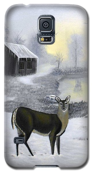 Galaxy S5 Case featuring the painting Winter Doe by Sheri Keith
