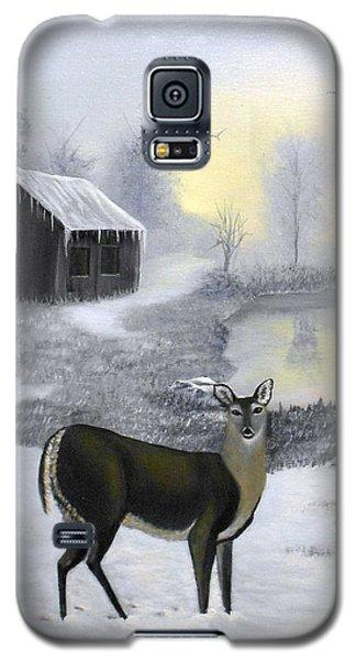 Winter Doe Galaxy S5 Case by Sheri Keith