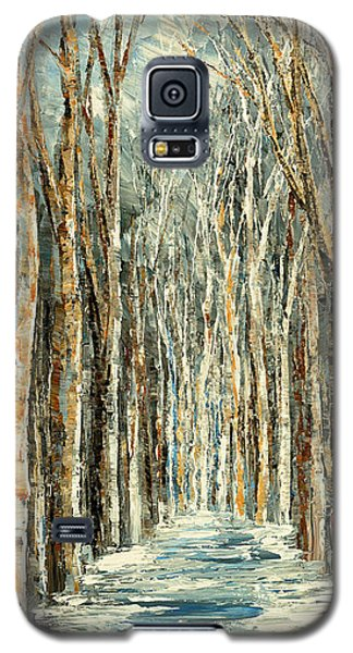 Galaxy S5 Case featuring the painting Winter Dreams by Tatiana Iliina