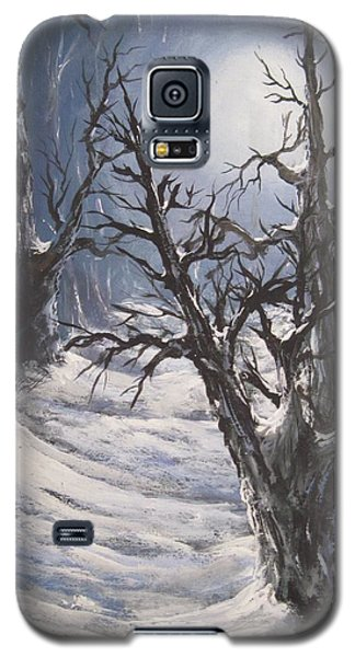 Galaxy S5 Case featuring the painting Winter Eve by Megan Walsh