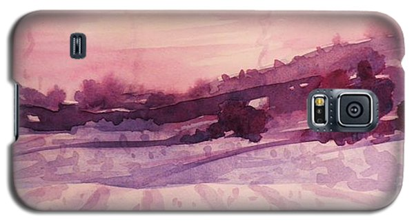 Galaxy S5 Case featuring the painting Winter Evening by Suzanne McKay
