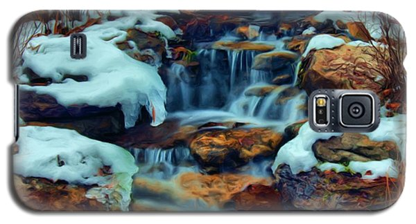 Winter Falls Galaxy S5 Case by Dennis Lundell