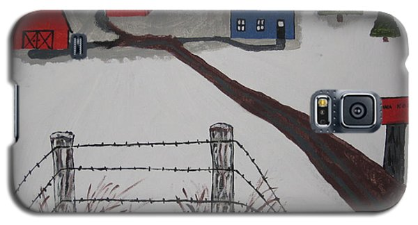 Galaxy S5 Case featuring the painting Winter Farm by Jeffrey Koss
