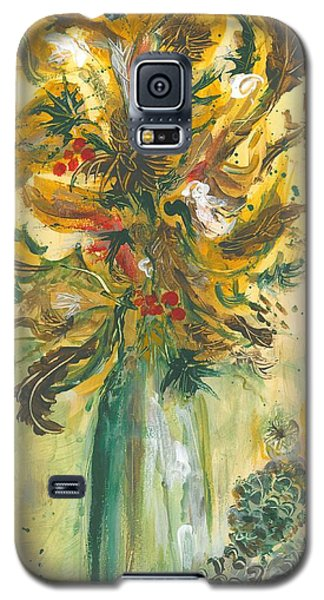 Winter Flowers Galaxy S5 Case