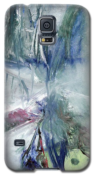 Galaxy S5 Case featuring the painting Winter Forest Painting by John Fish