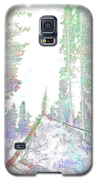 Galaxy S5 Case featuring the digital art Winter Forest Scene by John Fish