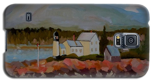 Winter Harbor Light Galaxy S5 Case by Francine Frank