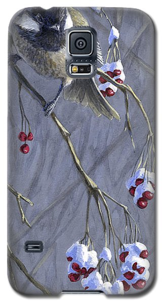 Winter Harvest 1 Chickadee Painting Galaxy S5 Case