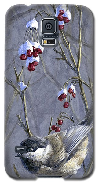Winter Harvest 2 Chickadee Painting Galaxy S5 Case