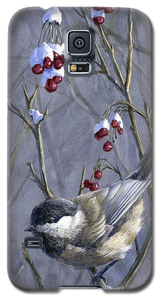 Winter Harvest 2 Chickadee Painting Galaxy S5 Case