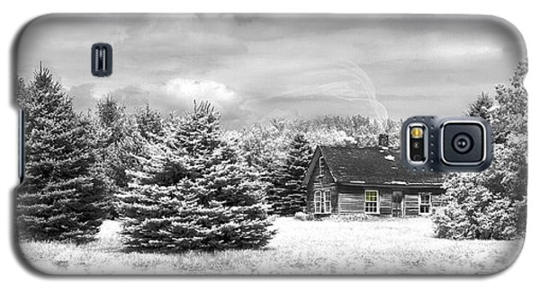 Winter House On The Prairie Galaxy S5 Case
