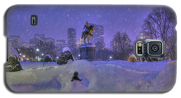Winter In Boston - George Washington Monument - Boston Public Garden Galaxy S5 Case by Joann Vitali