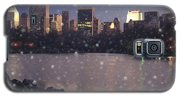 Winter In Central Park Galaxy S5 Case