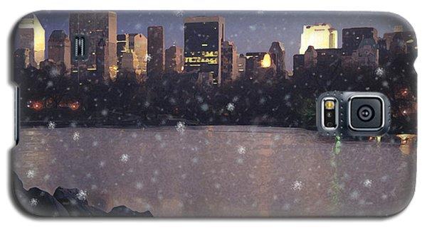Galaxy S5 Case featuring the digital art Winter In Central Park by David Klaboe