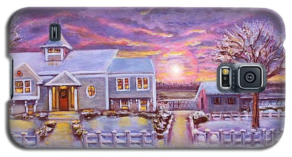 Galaxy S5 Case featuring the painting Winter In Great Harbors 2 by Rita Brown