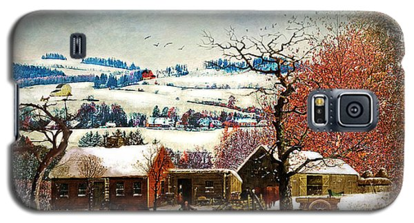 Winter In The Country Folk Art Galaxy S5 Case