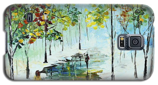Winter In The Park Galaxy S5 Case