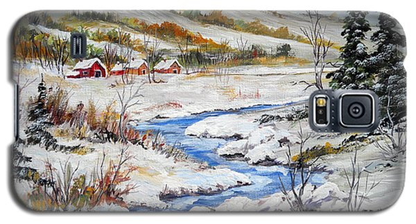 Winter In The Village Galaxy S5 Case by Dorothy Maier