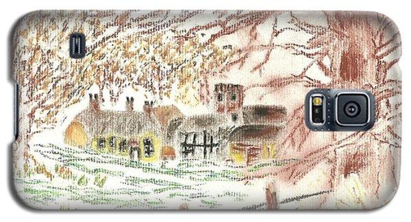 Winter In The Village Galaxy S5 Case