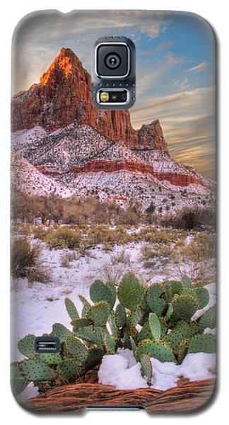 Winter In Zion National Park Utah Galaxy S5 Case