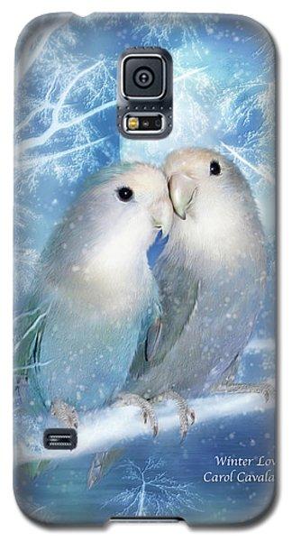 Lovebird Galaxy S5 Case - Winter Love by Carol Cavalaris
